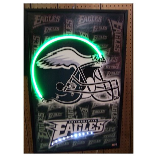 Neonetics Football Helmet Neon LED Framed Vintage Advertisement