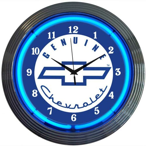"Neonetics Cars and Motorcycles 15"" Genuine Chevrolet Wall Clock"