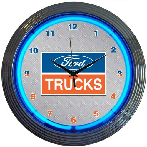 "Neonetics 15"" Ford Trucks Wall Clock"