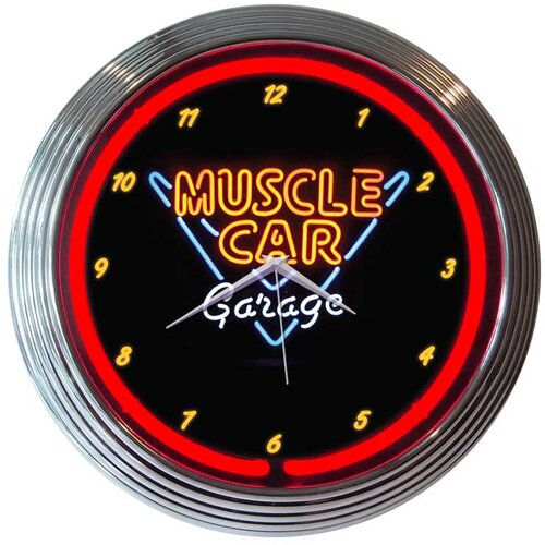 "Neonetics 15"" Muscle Car Garage Wall Clock"