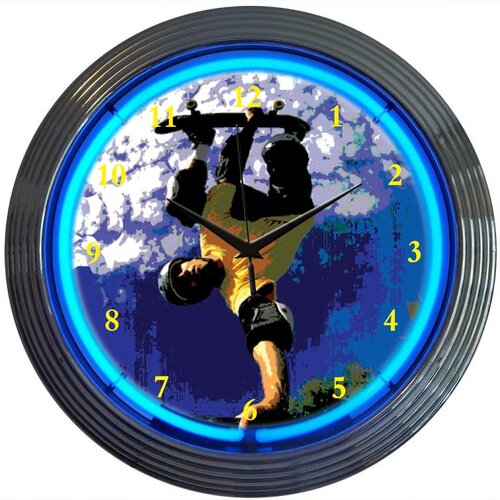 "Neonetics Sports 15"" Skateboarding Wall Clock"
