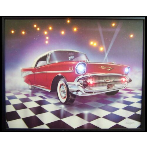 Neonetics 57 Chevy LED Lighted Framed Photographic Print
