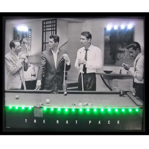 Neonetics Rat Pack LED Lighted Framed Photographic Print