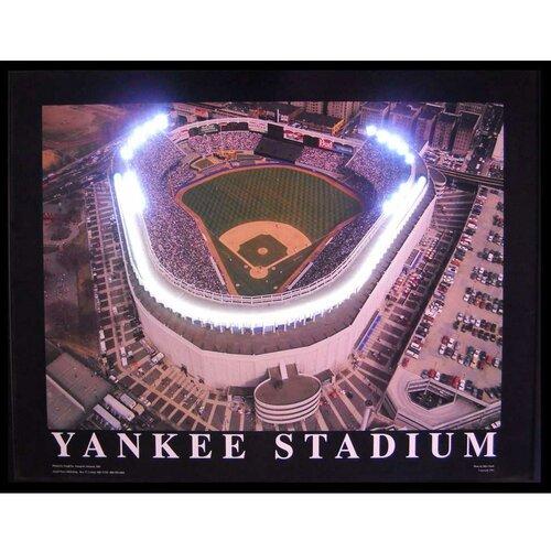 Neonetics Yankee Stadium Neon LED Framed Photographic Print