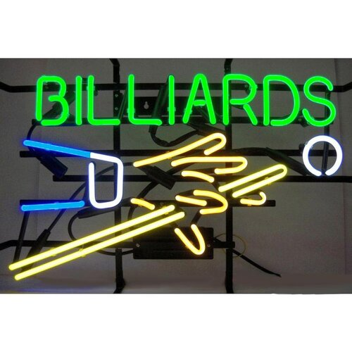 Neonetics Business Signs Billiards Hand and Cue Neon Sign