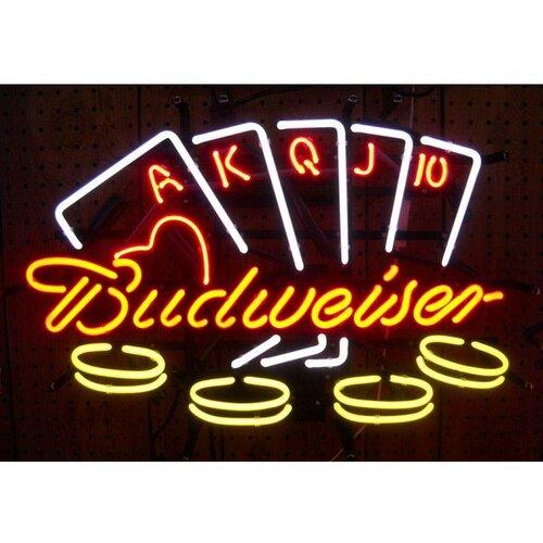Neonetics Business Signs Budweiser Poker Neon Sign