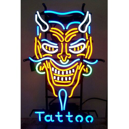 Neonetics Business Signs Devil Tattoo Neon Sign
