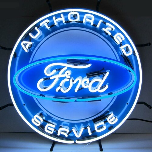 Neonetics Ford Neon Sign with Silkscreen Backing