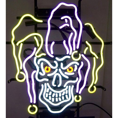 Neonetics Jester Skull Neon Sign
