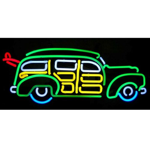 Neonetics Cars & Motorcycles Surfin Woody Wagon Neon Sign