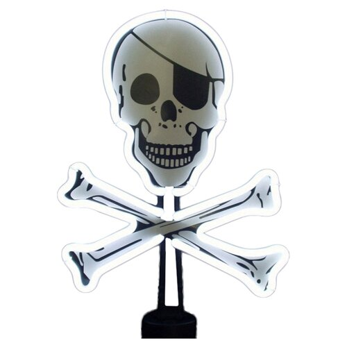 Neonetics Skull and Crossbones Sculpture