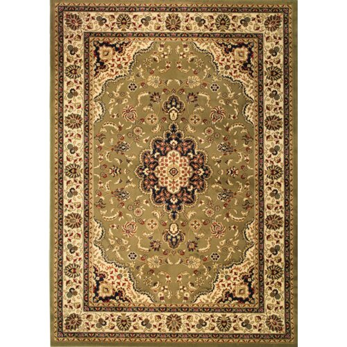 Infinity Home Barclay Green Medallion Kashan Rug