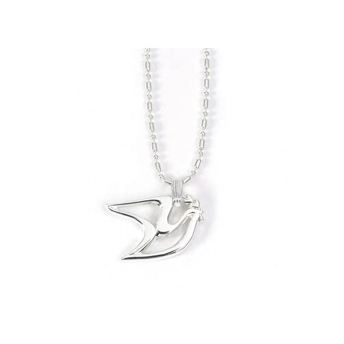 Sterling Silver Peace Dove Pendant Necklace
