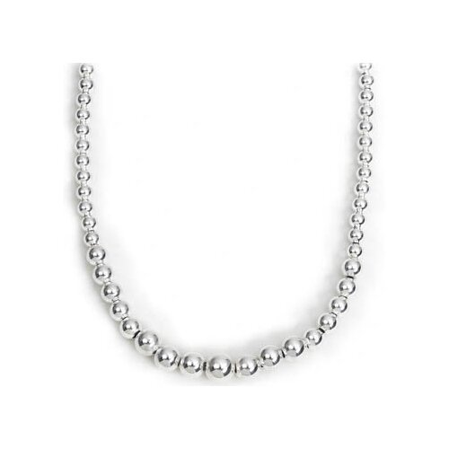 Newport Sterling Sterling Silver Graduated Bead Necklace