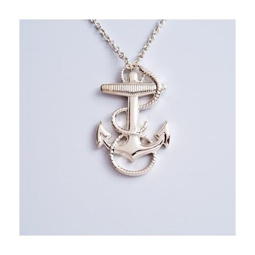 Newport Sterling Sterling Silver Naval Anchor Necklace