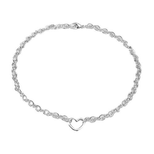 Newport Sterling Sterling Silver Open Heart Necklace