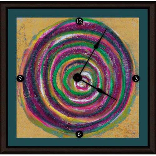 "Green Leaf Art Circulation I 16"" Art Wall Clock"