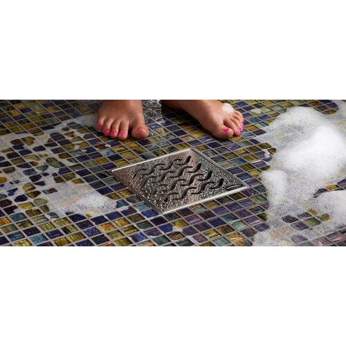 "QuARTz by ACO 6"" Hawaii Bathroom Shower Drain"