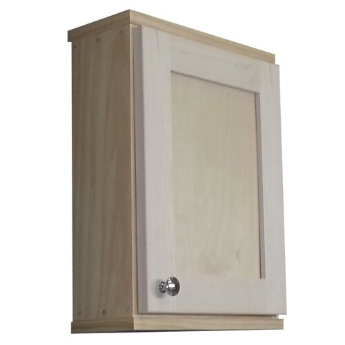 """WG Wood Products Shaker Series 15.25"""" x 19.5"""" Surface Mount Medicine Cabinet"""