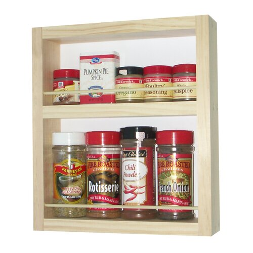 WG Wood Products On the Wall Spice Rack