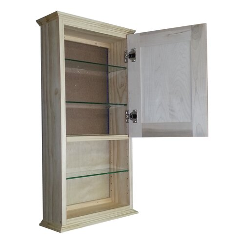"""WG Wood Products Shaker Series 15.25"""" x 31.5"""" Surface Mount Medicine Cabinet"""
