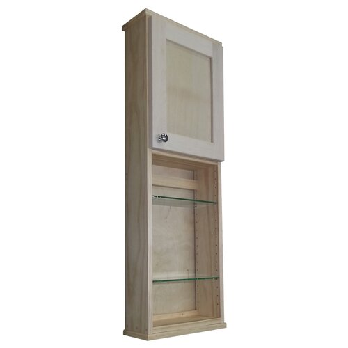 """WG Wood Products Shaker Series 15"""" x 43.5"""" Surface Mount Medicine Cabinet"""