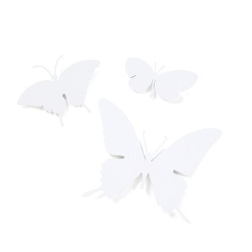 Diamantini & Domeniconi 3 Piece Butterflies Wall Décor Set