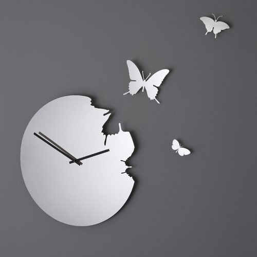 Diamantini & Domeniconi Butterfly Mirror Wall Clock