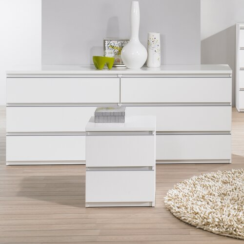 Tucson Bedroom 6 Drawer Double Dresser