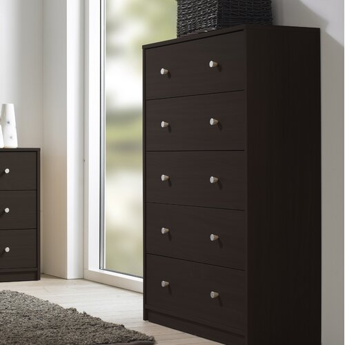 Tvilum Portland Bedroom 5 Drawer Chest