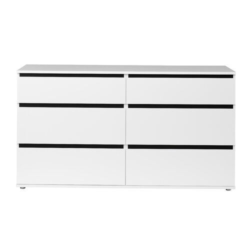 Aurora 6 Drawer Double Dresser