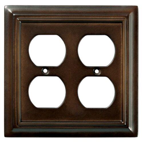 Brainerd Wood Architectural Double Duplex Wall Plate