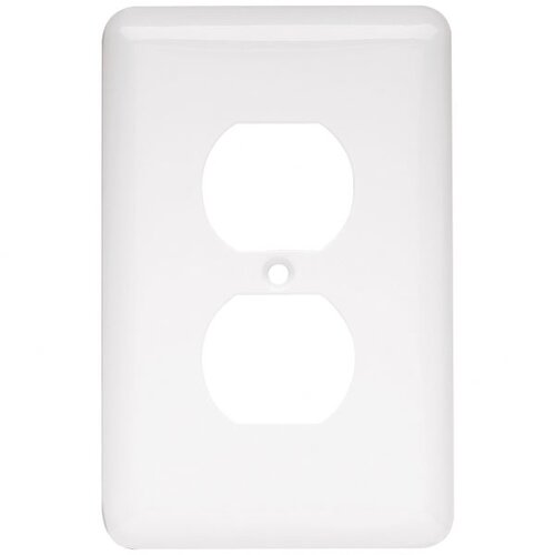 Stamped Round Single Duplex Wall Plate