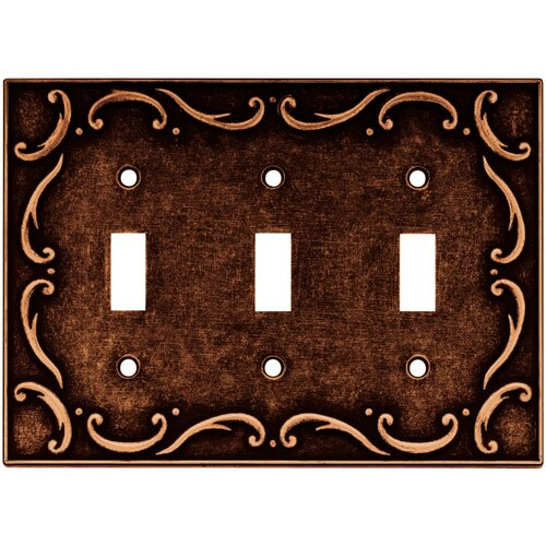 French Lace Triple Switch Wall Plate