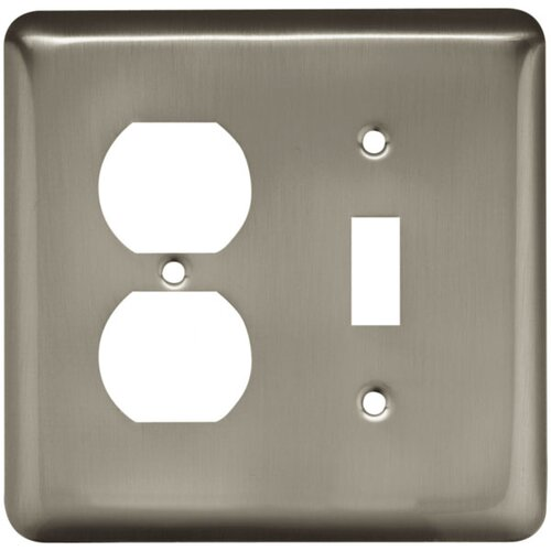 Brainerd Stamped Round Single Switch/Duplex Wall Plate