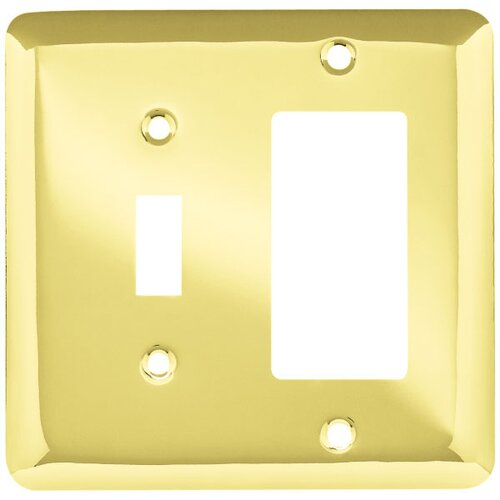 Stamped Round Single Switch/Decorator Wall Plate