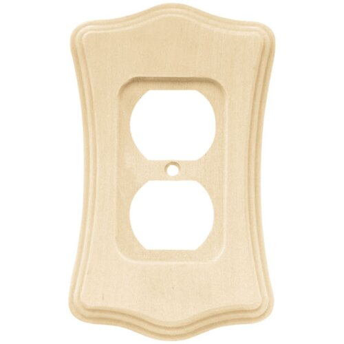 Brainerd Wood Scalloped Single Duplex Wall Plate