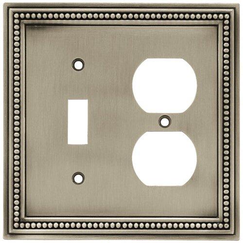 Beaded Single Switch/Duplex Wall Plate