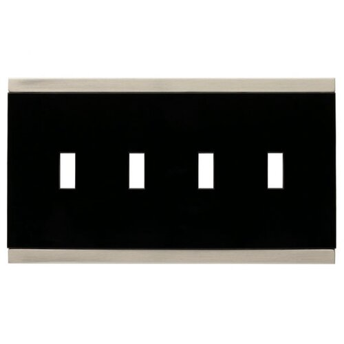 Brainerd Basic Stripe Quad Switch Wall Plate