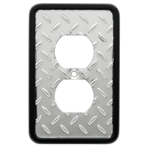 Brainerd Diamond Plate Single Duplex Wall Plate