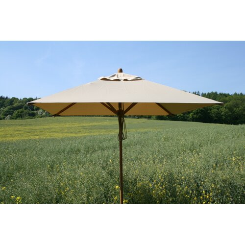 Bambrella 7'x10' Rectangular Bamboo Market Umbrella