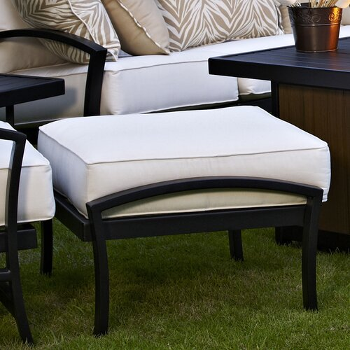 Meadowcraft Maddux Ottoman with Cushion