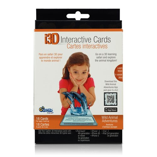 Cypher Kids Club Wild Animal Adventures i3D Interactive Cards