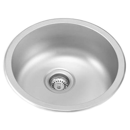 "Ukinox 17.5"" x 17.5"" Dual Mount Round Kitchen Sink"
