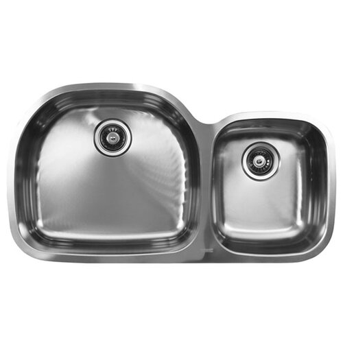 """Ukinox 31.5"""" x 20.5"""" x 10"""" Double Bowl Undermount Kitchen Sink"""