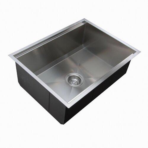 "Ukinox 24.5"" x 18.5"" Zero Radius Single Bowl Kitchen Sink"