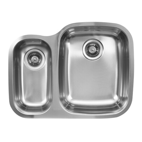 "Ukinox 26.25"" x 20.5"" Double Bowl Undermount Kitchen Sink"