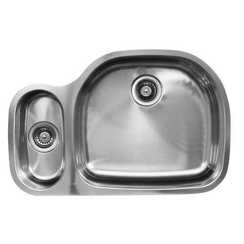 "Ukinox 31.5"" x 20.75"" x 10"" Double Bowl Undermount Kitchen Sink"