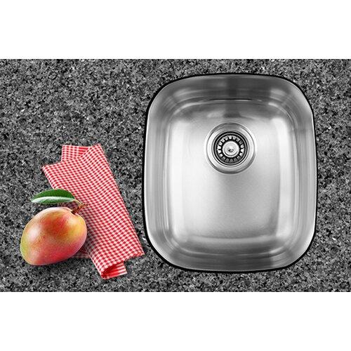 "Ukinox 17"" x 14.75"" Single Bowl Undermount Kitchen Sink"