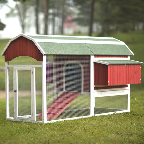 Prevue hendryx red barn large chicken coop reviews wayfair for Red chicken coop